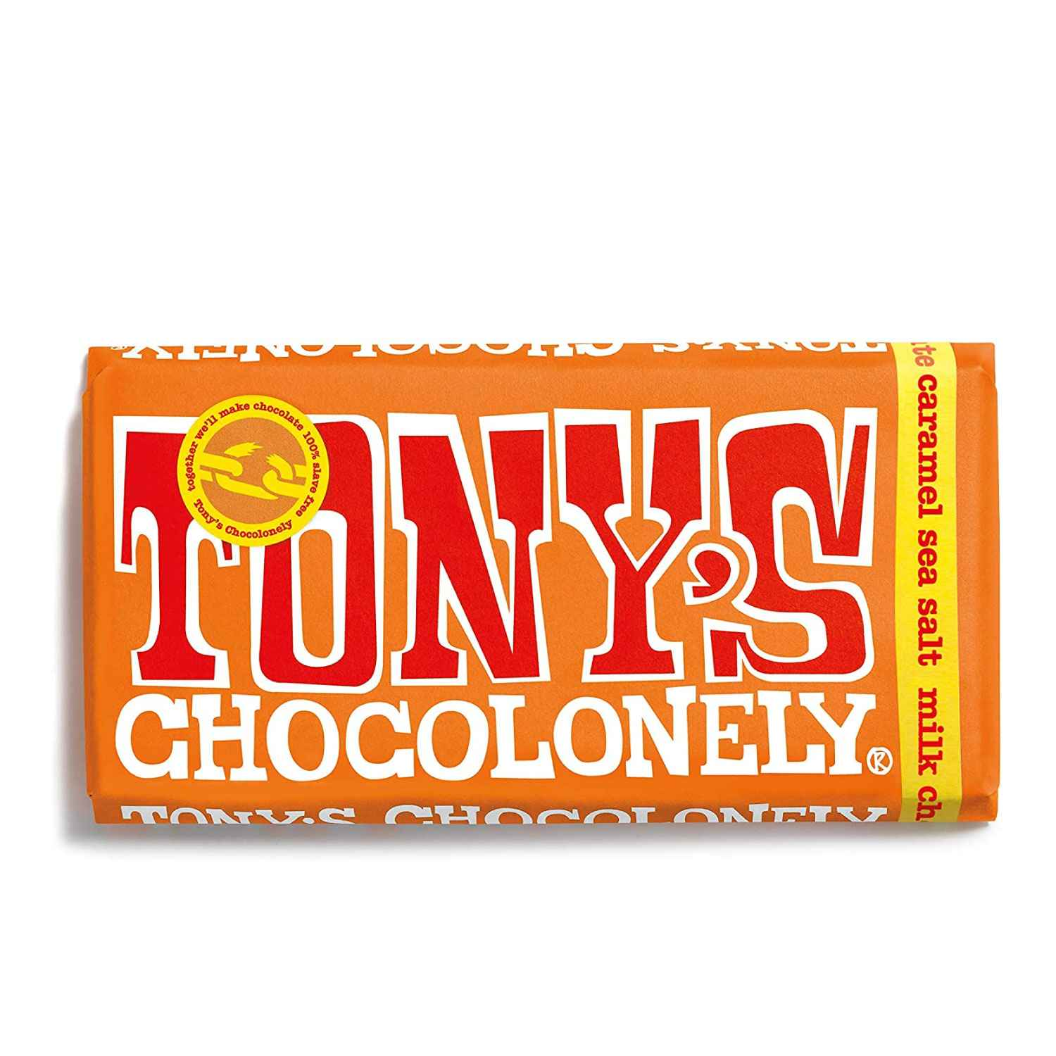 Tony's Chocolonely Milk Chocolate, Caramel & Sea Salt Bar