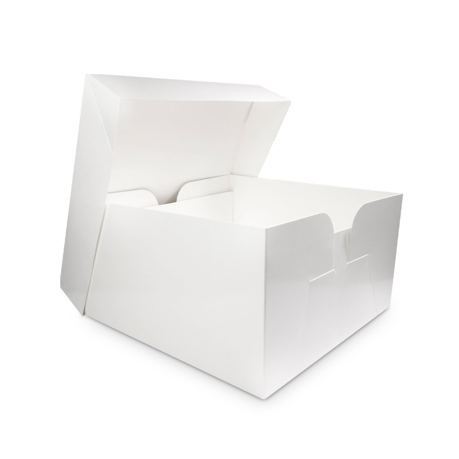 White Cake Box and Lid 12""