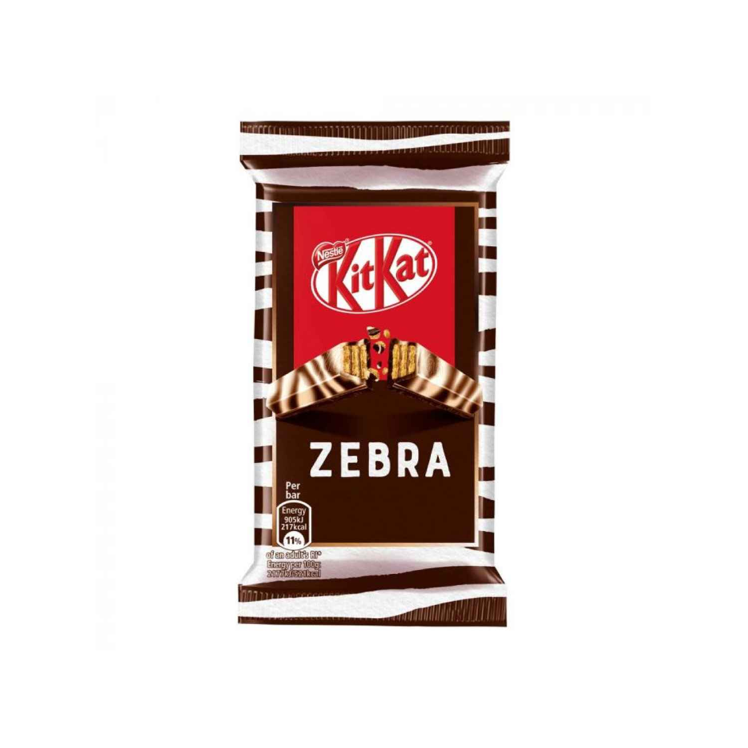 Kit Kat 4 Finger Zebra Dark & White Chocolate Bar